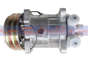 Nueva a/c compresor para 4506 Sanden sd508 5h14 4507 6627 6665 voltaje ...