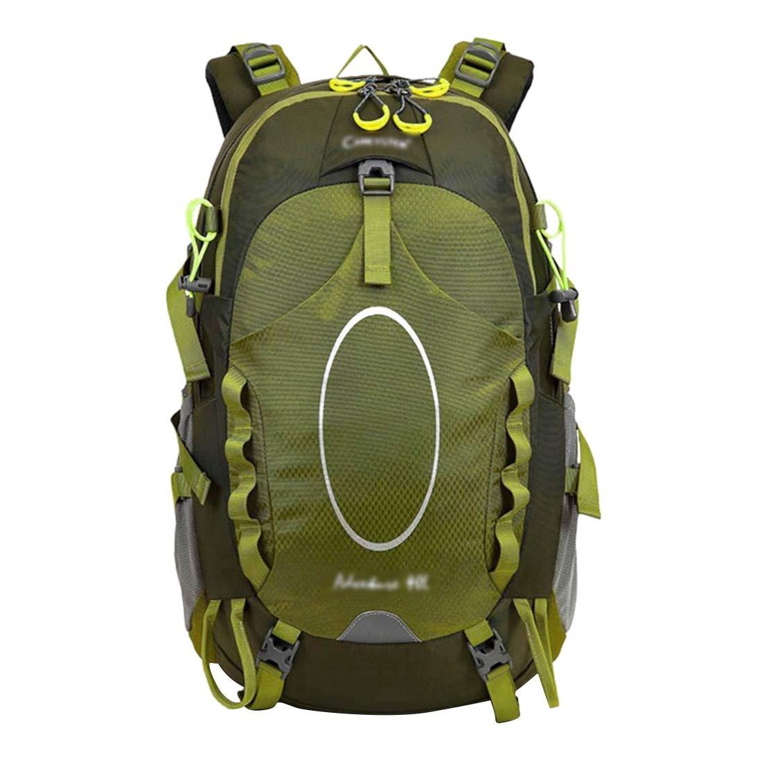 CAFUTY クライミングバッグ/アウトドアキャンプバックパックバックパックコンビネーション登山バッグ/多機能スポーツバックパック/迷彩アプリケーション:アウトドア登山、旅行、キャンプ (Color : オレンジ)  オレンジ B07MXDTTG5