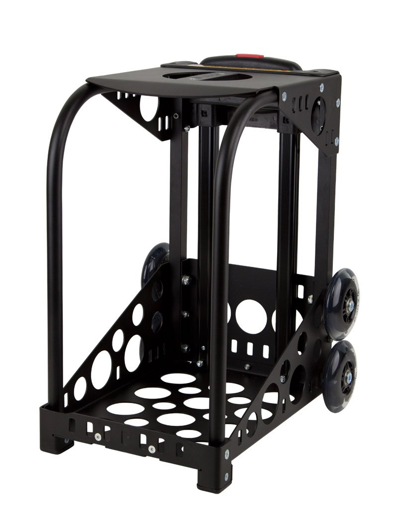 ZUCA Rolling Pet Carrier - Houndstooth Black Bag with Black Sport Frame and Flashing Wheels by ZUCA (Image #6)