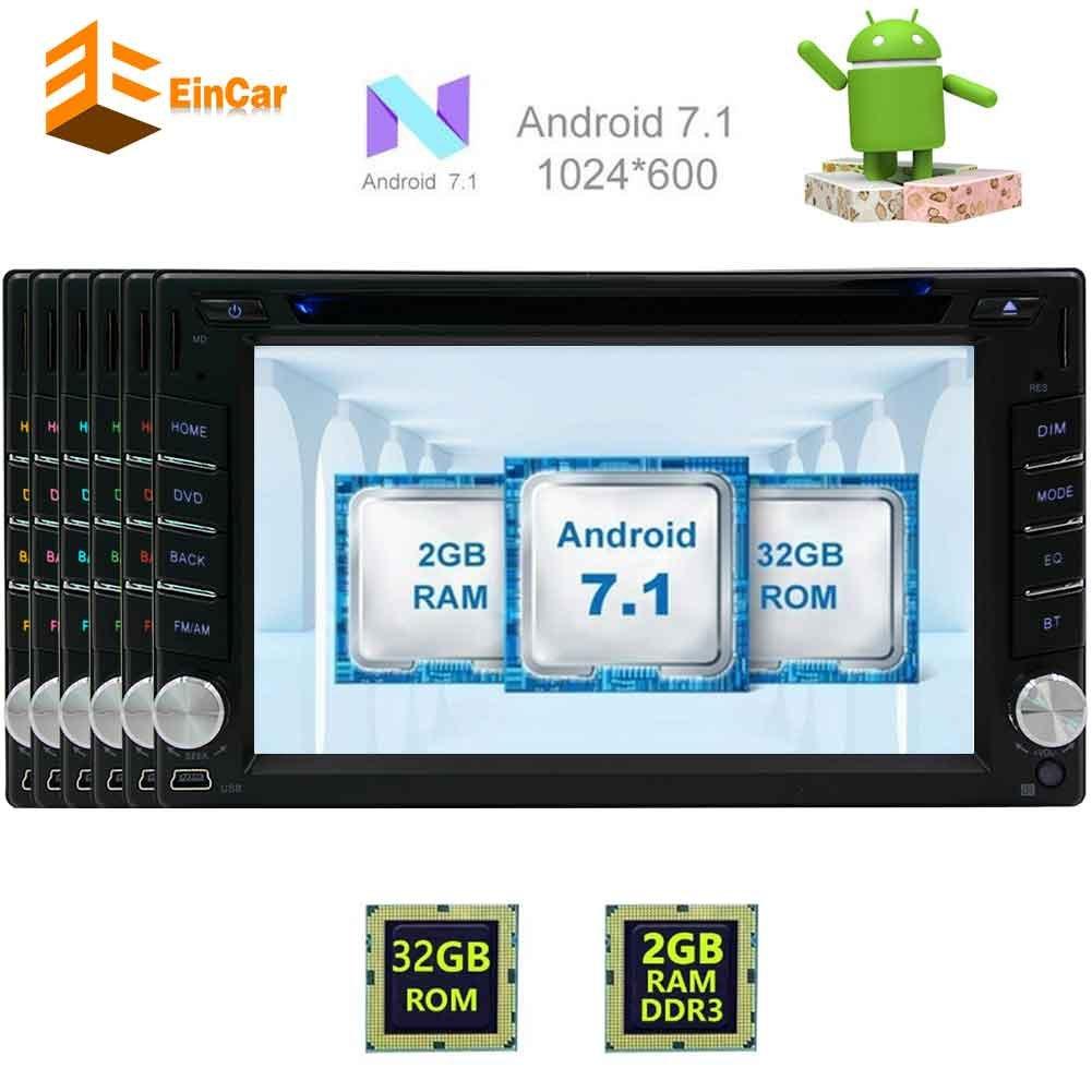 EinCarダブルディンアンドロイドオクタコア6.2「」HDタッチスクリーン車DVDプレーヤーGPSナビゲーションオートラジオエンターテイメントシステムサポートのBluetooth /無線LAN / Mirrorlink / OBD2 / SWコントロール/ CAM-INと7.1カーステレオ B077MKPZH4