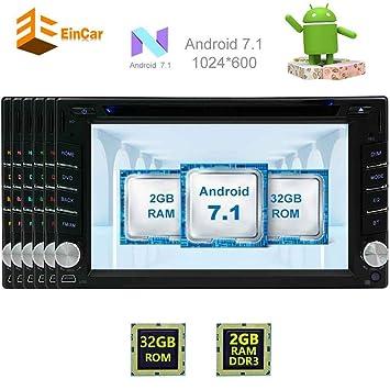 EinCar GPS DVD del coche de Android 7.1 estéreo del coche Octa-core de 6.2