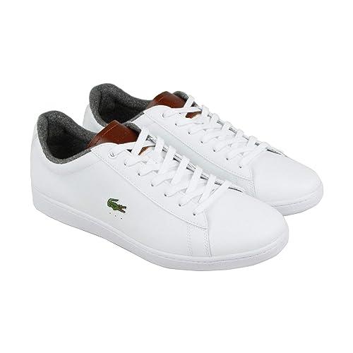 Lacoste Carnaby EVO 318 2 SPM Zapatillas de Piel para Hombre, Color Blanco,  Blanco 386eae026e