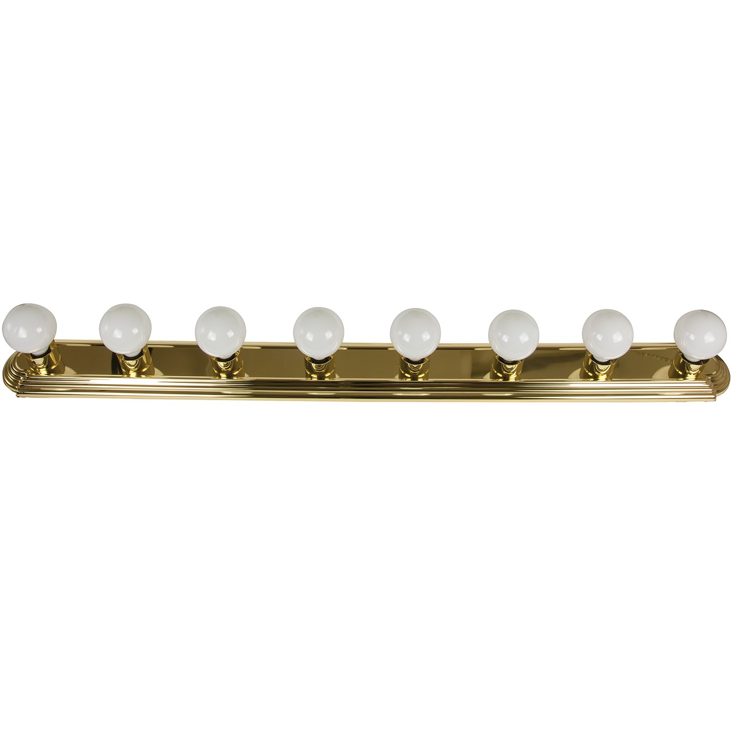 80 off sunlite b848 pb 48 inch 8 bulb bathroom vanity wall for Bathroom light fixtures brass finish