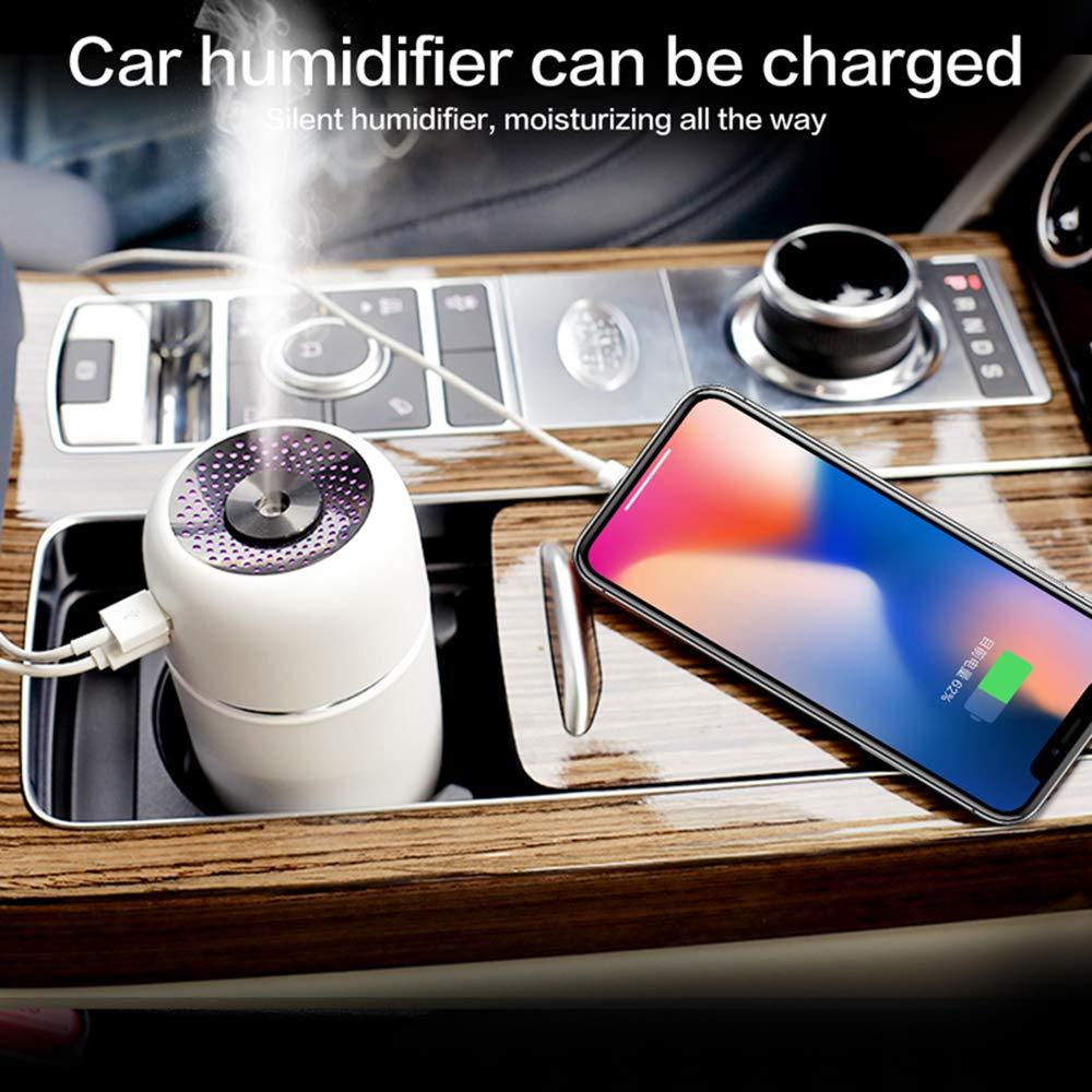 Humidificador ultras/ónico humidificador de aire mini USB humidificador de aire del difusor del aroma con LED que cambia de aire vaporizador de coches esencial de aromaterapia difusor del aceite
