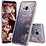 Galaxy S8 Plus Case, Clear Galaxy S8 Plus Case, MOSNOVO Cherry Blossom Floral Printed Flower Clear Design Plastic Hard Slim Case with TPU Bumper Protective Cover for Samsung Galaxy S8 Plus (2017)