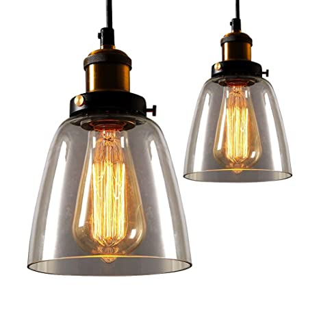 Industrial Glass Light Fixtures Motent 2pcs 5 5 Inches Dia