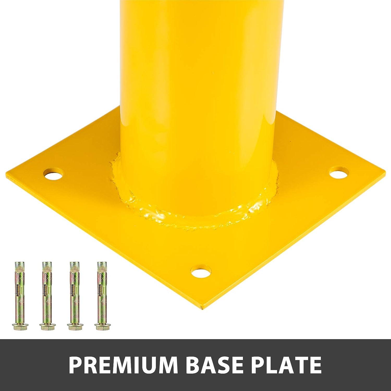 "8NET Yellow Signs Pipe Safety Bollard Steel Barrier 42/"" H 4.5/"" D 12Ga w// 8/"" Base"