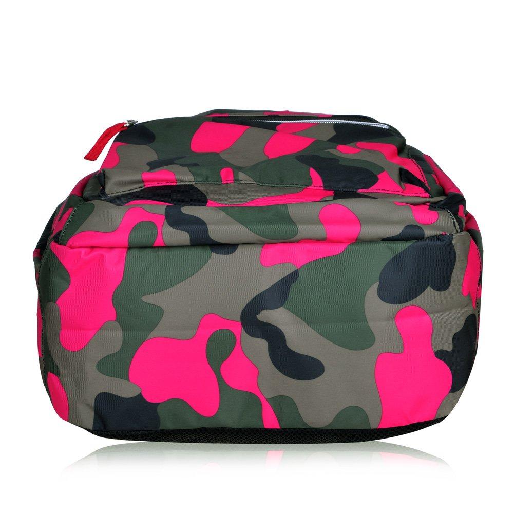 Vbiger Rucksack Mädchen Jungen Schulrucksack Jungen Teenager Schulranzen Schultasche für Mädchen Jungen & Jugendliche (Rose rot1)