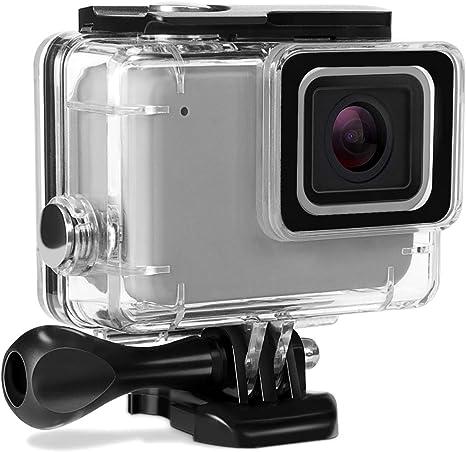 Len de filtro de buceo rojo Funda para GoPro Hero 7 Plateado y Blanco Funda Cubierta Impermeable