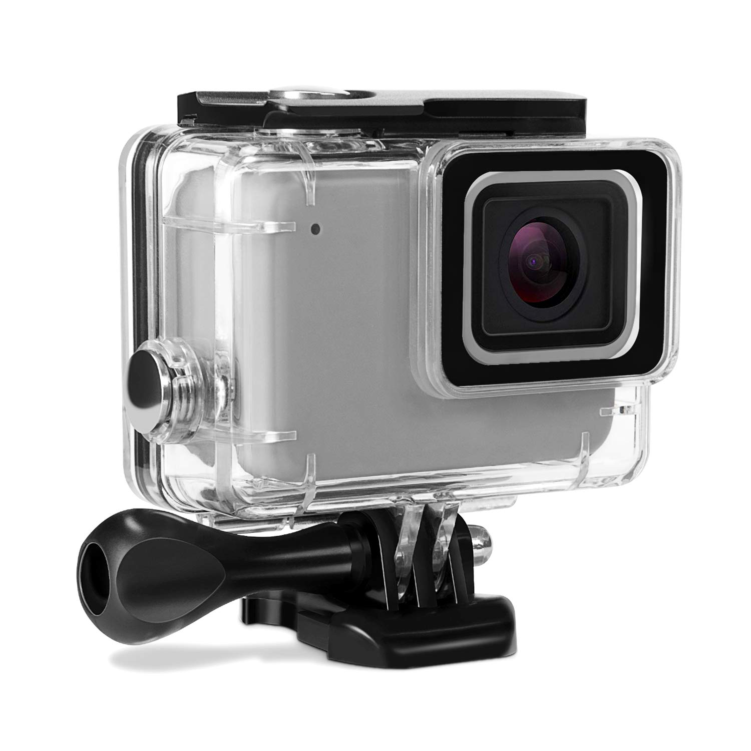 Kupton Waterproof Case for GoPro Hero 7 Silver/White Housing Case Accessaries Diving Protective Housing Shell 45 Meter for Go Pro Hero7 Silver White Action Camera with Bracket Accessories by Kupton