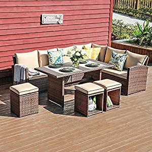 61H-Y-d0aZL._SS300_ Wicker Dining Tables & Wicker Patio Dining Sets