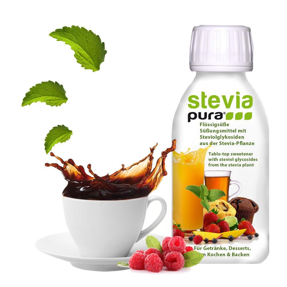 steviapura - Stevia flüssig Tafelsüße 1 x 150ml - OHNE FRUCTOSE ...