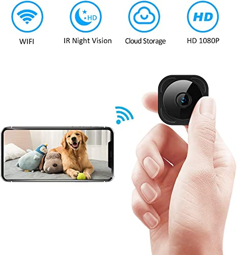 cineman Spy Camera WiFi Hidden Camera with Wireless Phone Charger,1080P Security Cameras Hidden Nanny Cam with Motion Detection//Night Vision,Phone Remotely Monitoring//Support Micro SD Card Recording