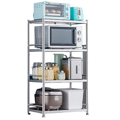 Amazon.com: WSXX Estante de cocina de acero inoxidable ...