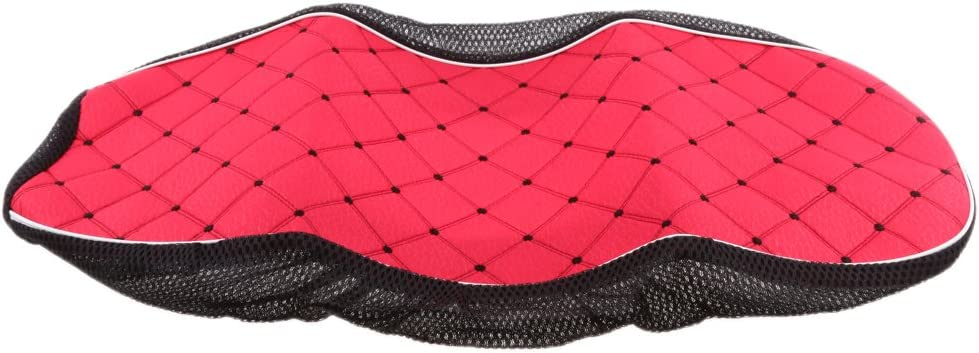 Baoblaze Roter Motorrad Sitzkissenbezug Roller Sitzkissen Abdeckung Motorräder Ersatzteile Und Zubehör Rot M Auto