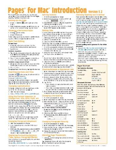 pages for mac quick reference guide version 5 2 introduction rh amazon com