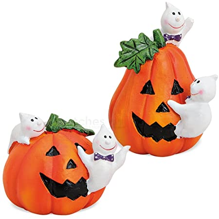 matches21 HOME & HOBBY halloween pumpkins funny ghosts polyresin ...