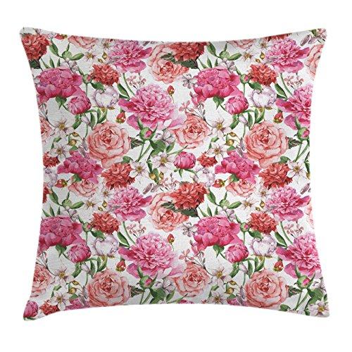 Rose Print Pillow - 2