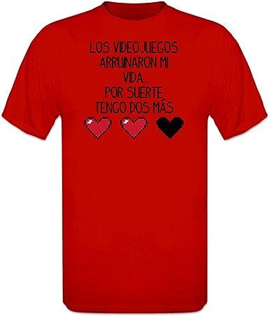 Shirtcity Camiseta Los Videojuegos arruinaron mi Vida. por ...