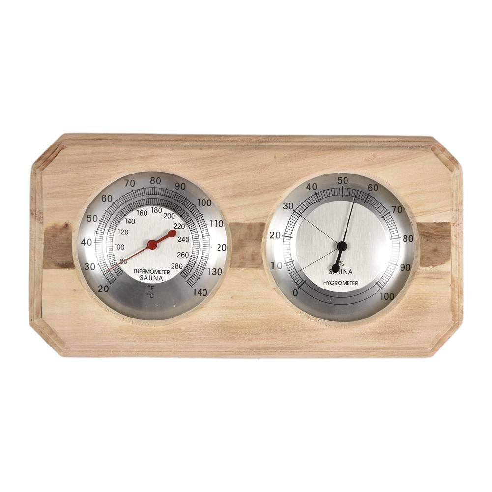 Prosaice Aspen Handmade Double Dial Thermometer Hygrometer Sauna to Test Temperature and Humidity by Prosaice