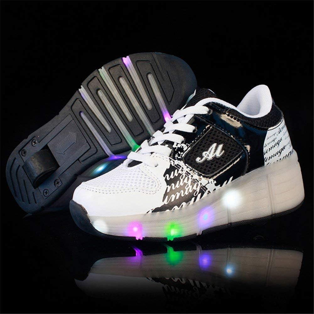 AGoGo LED Light Up Roller Skates Shoes Flashing Single Wheel Sneakers for Girls and Boys