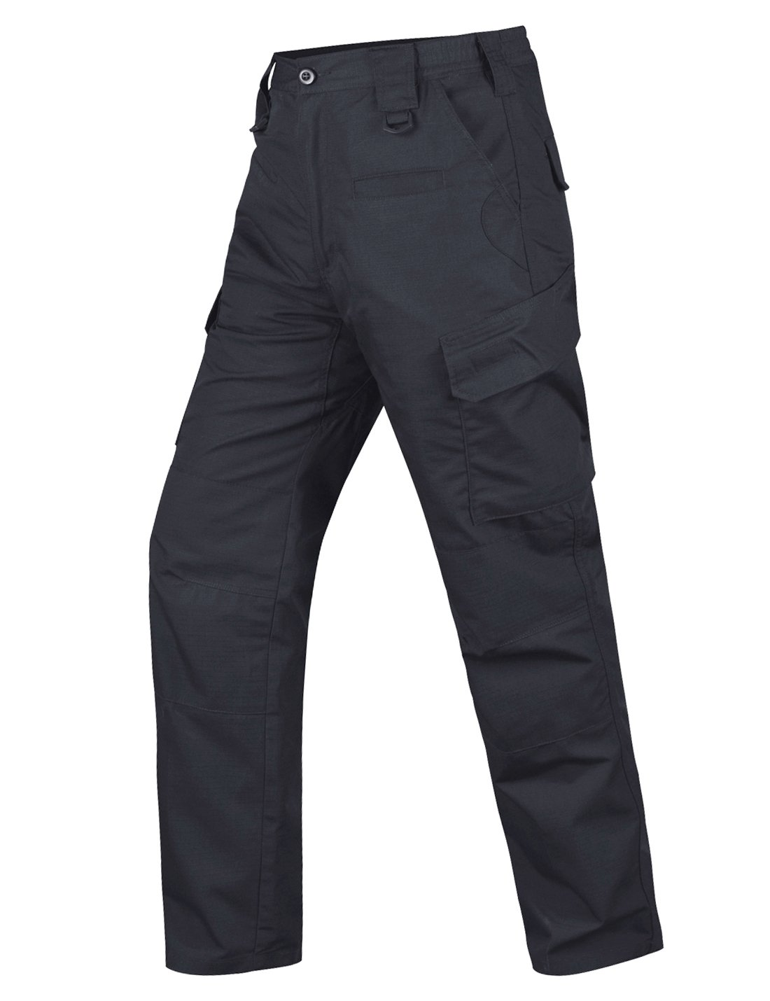 HARD LAND Men's Tactical Pants Waterproof Ripstop Cargo Work Pants with Elastic Waist for Hiking Hunting Fishing Size44W×32L Charcoal Grey by HARD LAND (Image #1)
