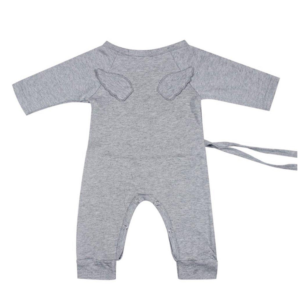 Amazon.com  MIOIM Newborn Infant Toddler Baby Girls Boys Kimono Side Tie  One Piece Bodysuit Angel Rompers  Clothing cef47684e