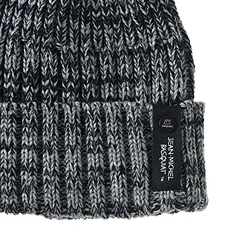 Jean Crown Slouchy Michel de Gorros Punto Hat Beanie WITHMOONS Gris CR5852 Knitted Basquiat wzT6vqxYn