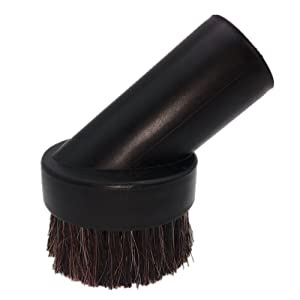 Perrio Dusting Brush Soft Horsehair Bristle Replacement for Vacuum Cleaner Accepting 1.25'' Round Attachment