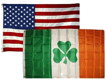 7d5dc072baa9 2 x3  Wholesale Combo Set USA American   Shamrock Irish Super Polyester  Nylon Flags