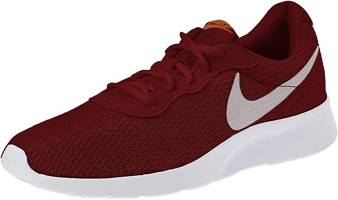 Nike Tanjun Sneakers Laufschuhe Herren Weinrot/Weiß