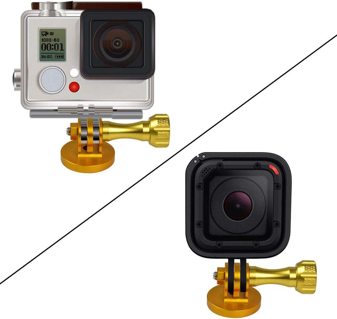 Thumb Screw for Gopro Hero 4//3//2//1,sj5000 Camera-Golden MENGS Aluminum Alloy 1//4 Gopro Tripod Mount Adapter