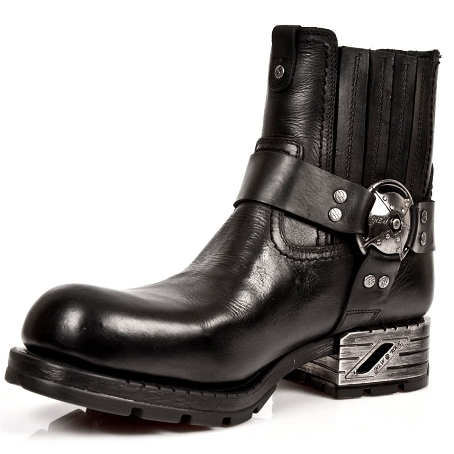 New Rock NEWROCK Nr M.MR007 S1 Black Boots - Mens: Amazon.co.uk: Shoes &  Bags