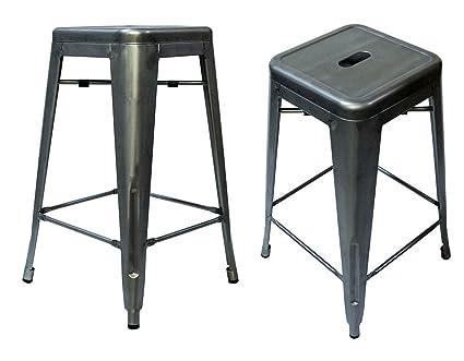 Brilliant Amazon Com Steampunk Tolix Replica Metal Counter Stools 26 Forskolin Free Trial Chair Design Images Forskolin Free Trialorg