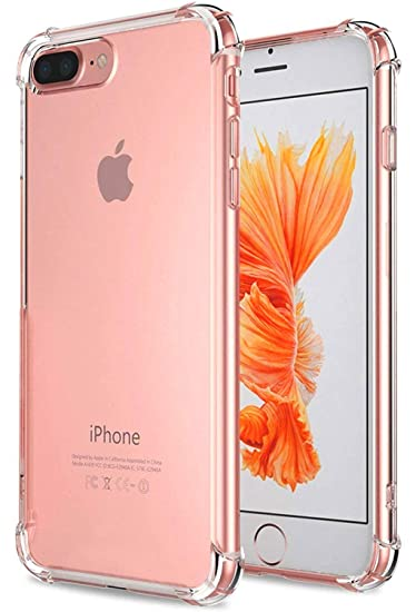 more photos ff195 ba998 West Basics iPhone 8 Plus Case, iPhone 7 Plus Case Clear Protective Cases  with Soft TPU Bumper [Slim Thin]