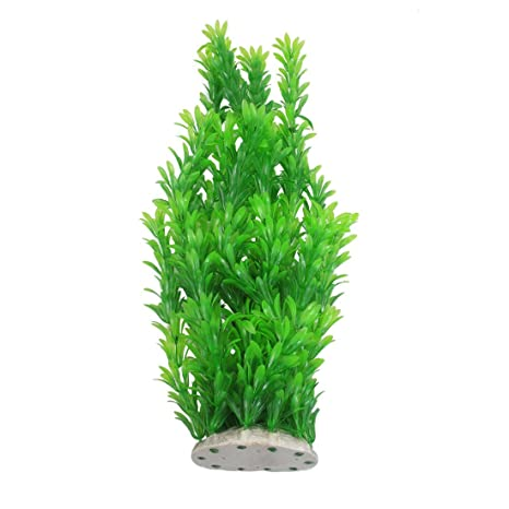 Plantas sumergibles Sourcingmap de plástico para adornar la pecera, 40 cm, Color Verde