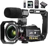 Video Camera 4K Camcorder ZOHULU WiFi Ultra HD Vlog Camera for YouTube, 3.1'' IPS Screen 30X Digital Zoom Night Vision…