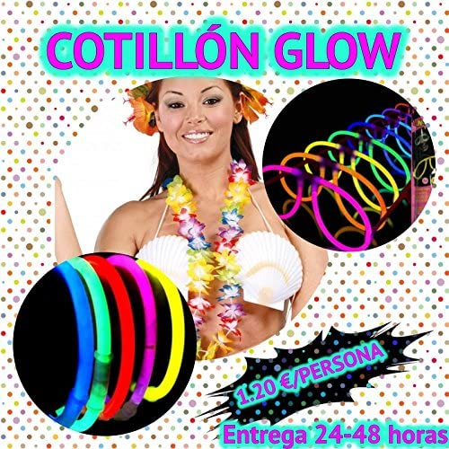 20 Cotillón Pack Fiesta Luminoso LED GLOW kit ENTREGA 1-3 DÍAS ...