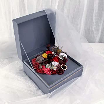 Cute Bunny Bear Elf Rose Artificial Flowers Gifts Box Preserved Roses As Romantic Love