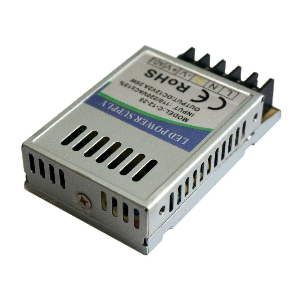 Transformateur universel d'alimentation à découpage régulé IP20 pour rampe lumineuse LED et systèmes de vidéo-surveillance CA 5V/12V/24V CCTV, 24 Watt, Dc 12V, 1 LED Sone