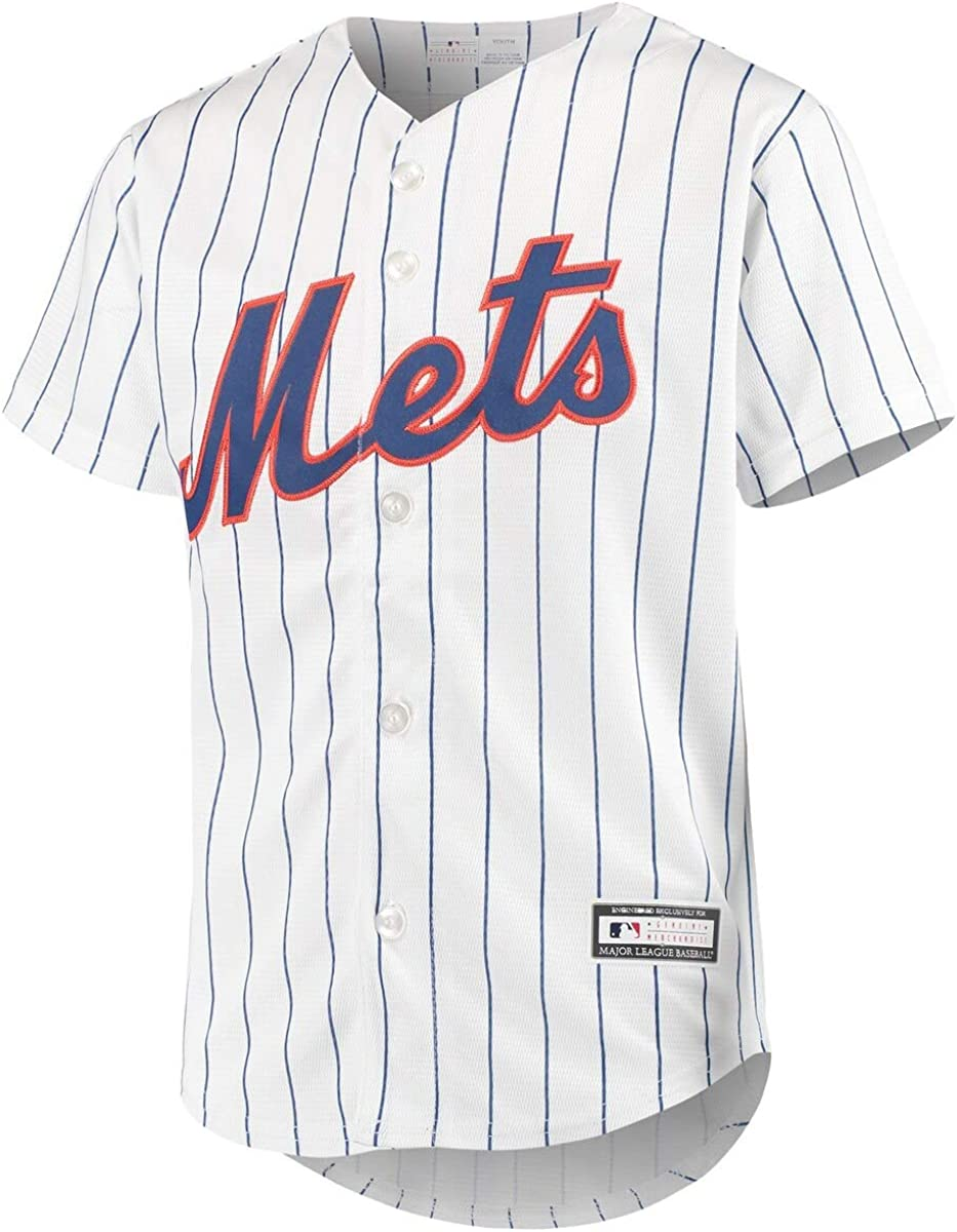 New York Mets Blank White Youth Cool Base Home Team Jersey
