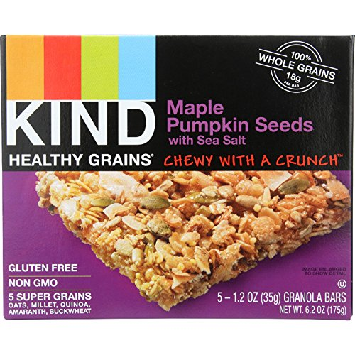 Kind Bar - Granola - Healthy Grains - Maple Pumpkin Seeds with Sea Salt - 1.2 oz - 5 Count - Case of 8 - Gluten Free-Dairy Free-Yeast Free-Wheat Free- by KIND