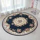 Carpet rug European-style carpet pastoral style circular corridor non-slip mat Modern minimalist personality fashion European design pattern (Style : A)