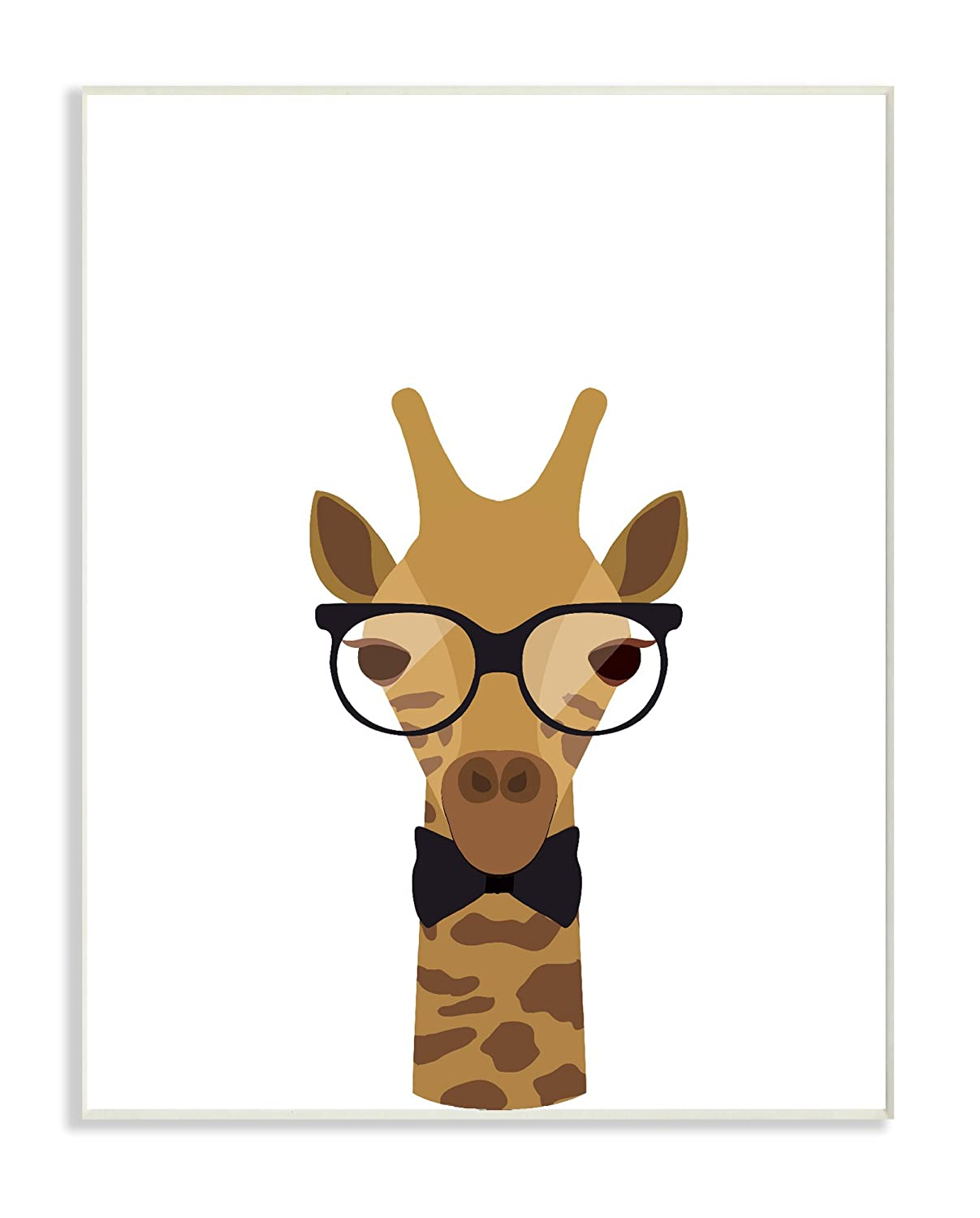Stupell Home D/écor Graphic Hipster Giraffe Wall Plaque Art Proudly Made in USA Stupell Industries brp-1857/_wd/_10x15 10 x 0.5 x 15