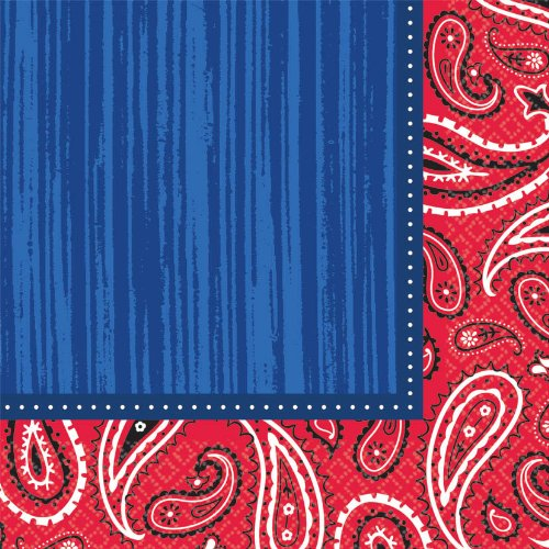 Bandana and Blue Jeans Luncheon Napkins (16ct)
