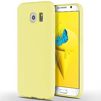 SpiritSun Funda para Samsung Galaxy S6 Suave Carcasa Diseño Mate Ultrafina TPU Bumper Silicona Piel Carcasa Ultra Delgado y Ligero Goma Flexible Anti ...