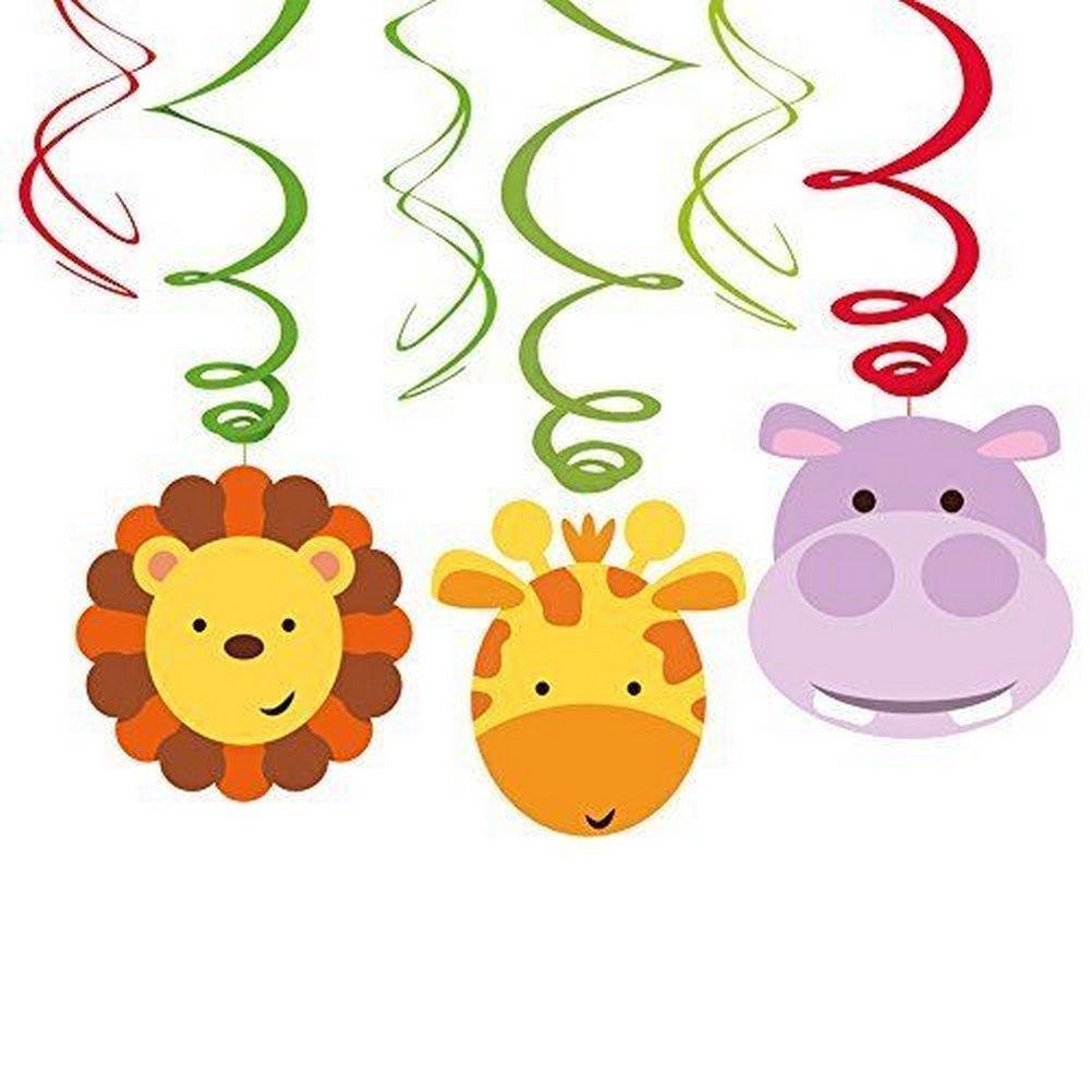 /9901924/decoraciones de remolino de dise/ño de animales de la selva Amscan International/