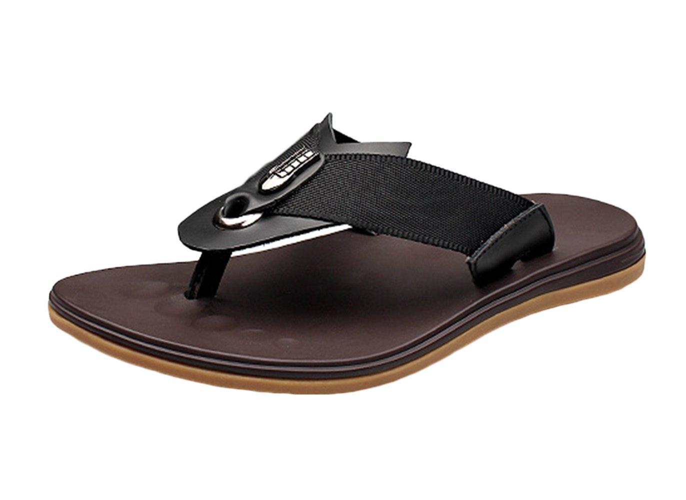 Icegrey - Sandalias de vestir para hombre 38 EU|negro