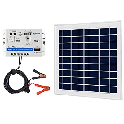 ACOPOWER 12V 15W 5A Solar Charger Kit, Polycrystalline Solar Panel & 5A Charge Controller for RV, Boats, Camping; w USB 5V Output as Phone Charger (15W 5A Kit) : Garden & Outdoor
