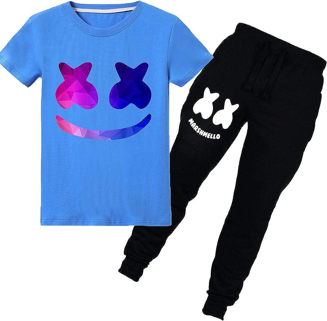 FLYCHEN Niños Chándales de Camiseta con Pantalón